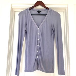 Dusty Lavender Button Up Cardigan